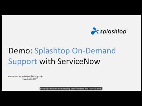 Splashtop SOS 与 ServiceNow 的集成