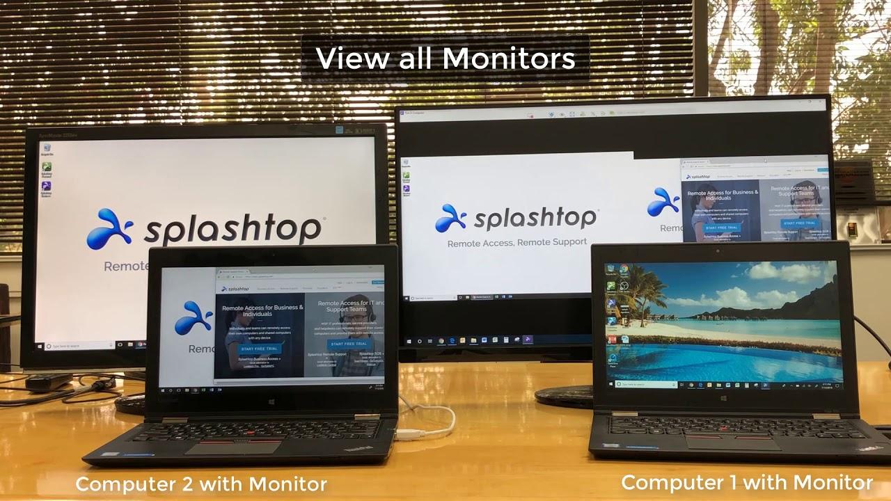 使用 Splashtop 查看多台显示器