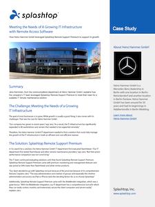 Heinz Hammer GmbH Case Study