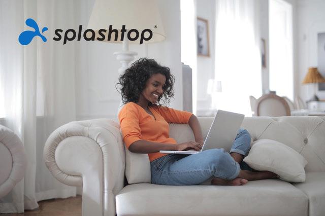 Fernarbeiter mit Splashtop