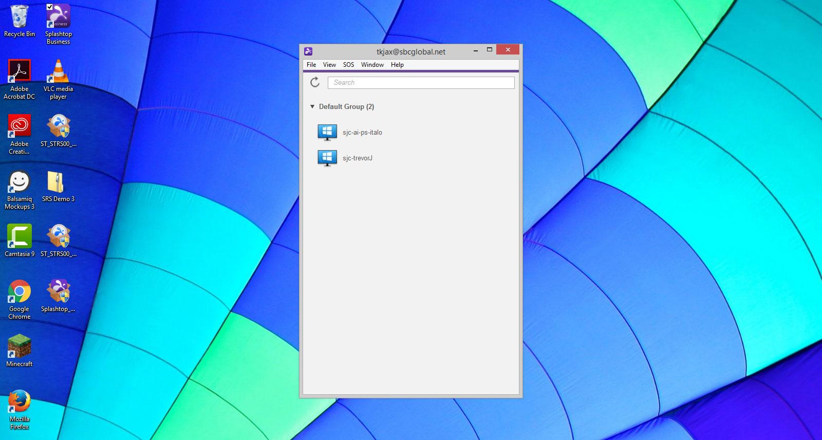 Splashtop Business App on Desktop