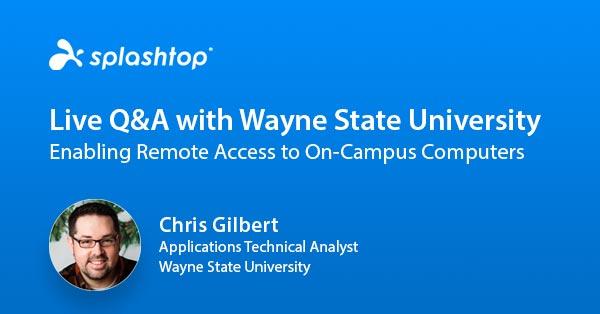Direktsända frågor och svar med Wayne State University