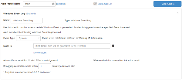 Alerts for Windows Events
