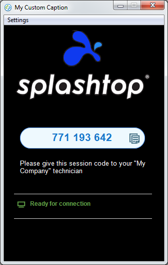 Splashtop SOS app with custom branding