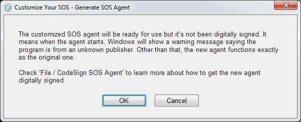 Splashtop SOS custom branding save message