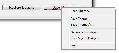 Splashtop SOS custom branding save options