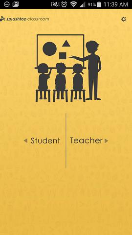 Pantalla de selección de Android para Splashtop Classroom