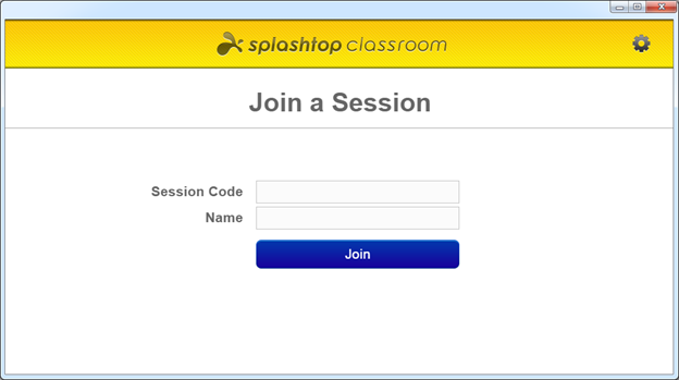 Splashtop Classroom Join a Session screen
