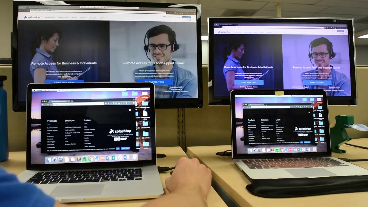 Mac 到 Mac 的多显示器远程访问