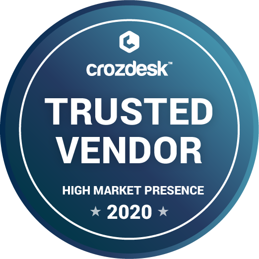 Crozdesk's Trusted Vendor Badge 2020 Splashtop
