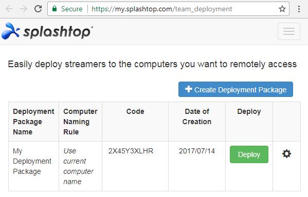 Mass Deployment Splashtop Streamer - Splashtop Inc