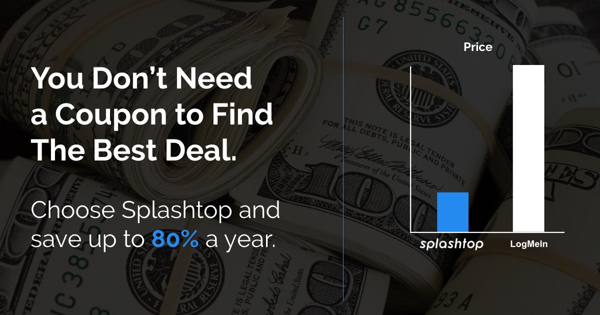 No coupon needed with Splashtop
