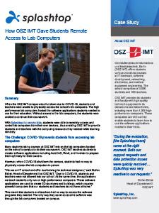 Estudio de caso de la OSZ IMT