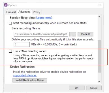 Enhanced Session Recording Codec