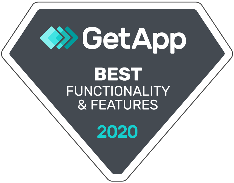 GetApp Best Functionality & Features Badge