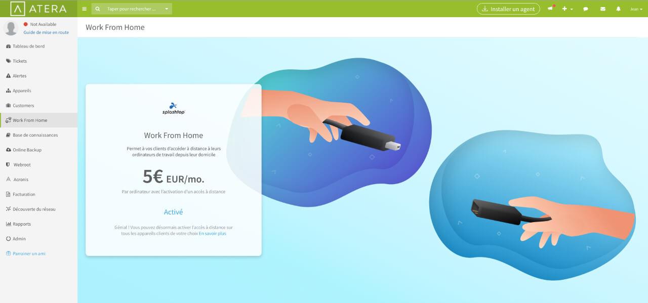 Immagine di gestione centrale di accesso remoto