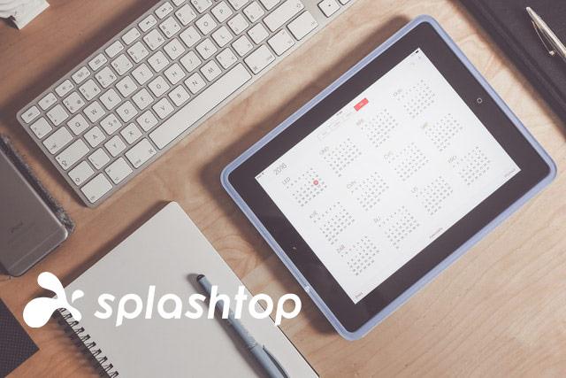 Monatliche Abrechnung im Splashtop Remote Support. Ein iPad mit geöffnetem Kalender