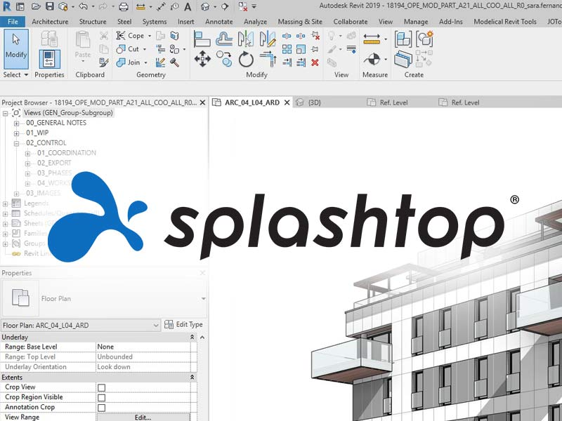 Remotely access Revit with Splashtop