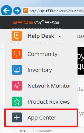 Centro app Spiceworks Help Desk