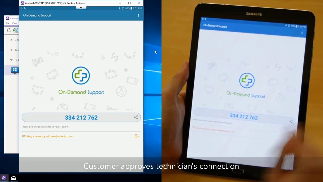 使用 Splashtop SOS 查看和控制 Android 设备