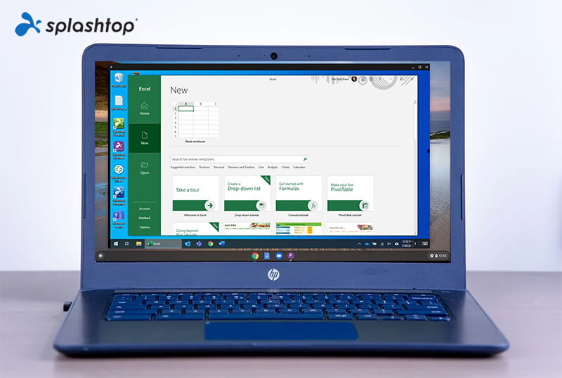 Excel on a Chromebook thanks to Splashtop
