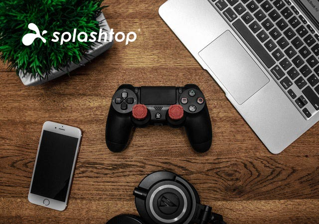 Video game developer work from home setup with Splashtop