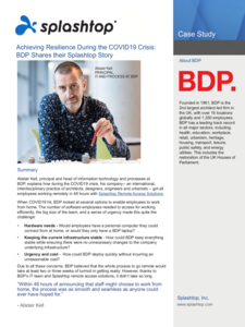 BDP In Architecture Industry Case Study
